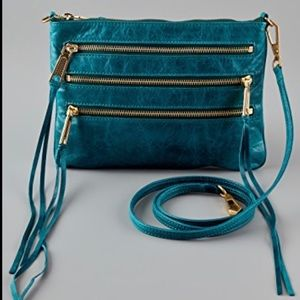 Rebecca Minkoff 3 Zip Rocker Bag  - Teal